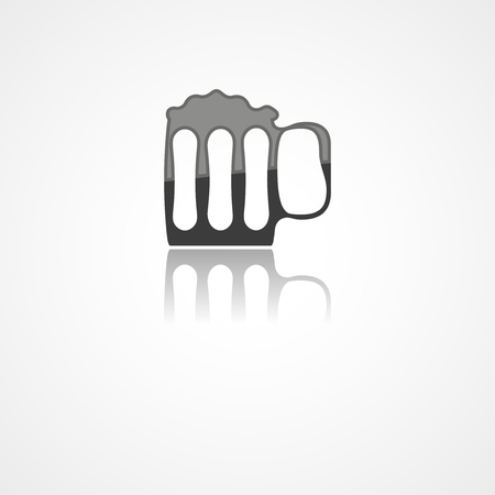 Beer web icon on white background