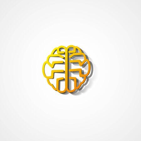 Brain web icon on white background