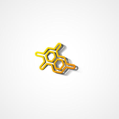 Molecule web icon on white background Ilustrace