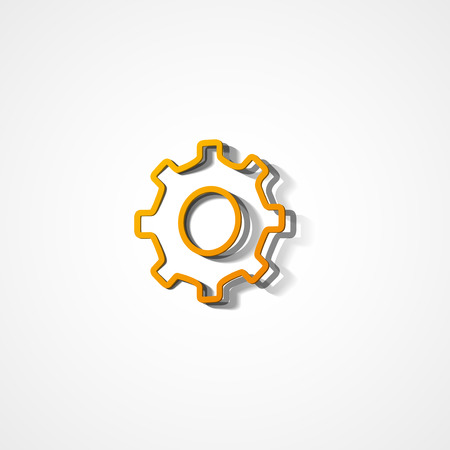 Gear web icon on white background