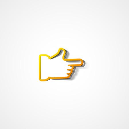 Hand cursor web icon on white background