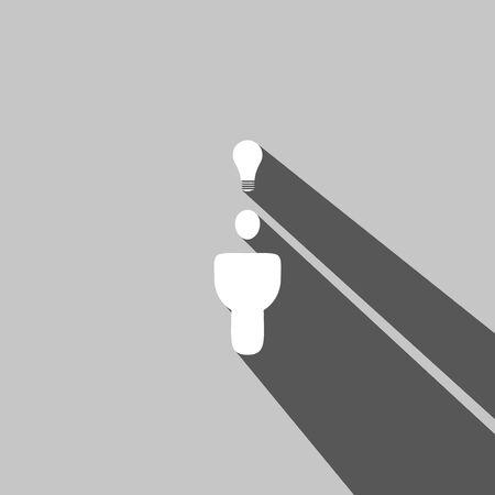 Social web icon on gray  background Ilustrace