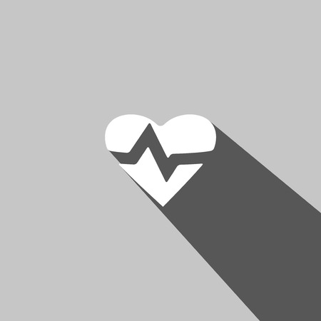 taking pulse: Heart Rate web icon on gray background