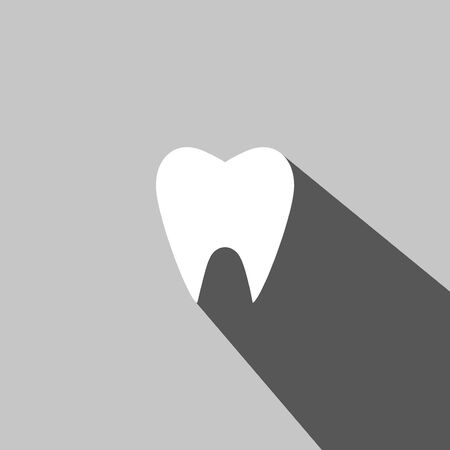 Tooth web icon on gray background