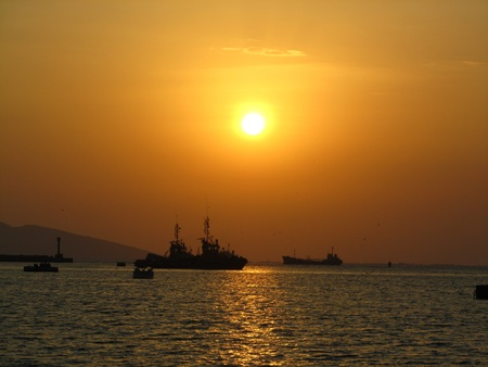 aden: Evening at port Aden, Yemen
