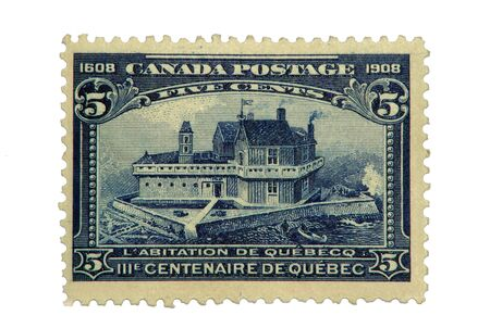 Quebec City's 300th Anniversary, printed in 1608. Banco de Imagens