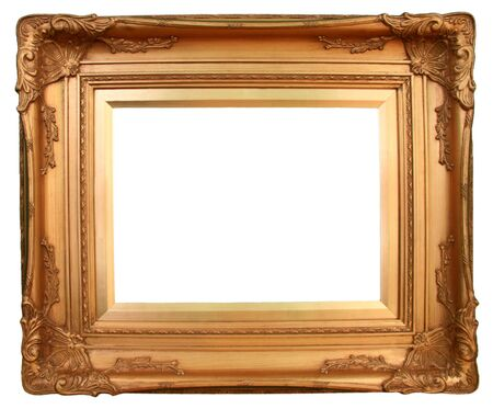 Gilded gold picture frame ready for your insertion.