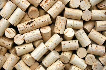 Collection of wine bottle corks for making wine
