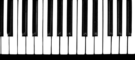 Zwart-wit toetsen van een piano