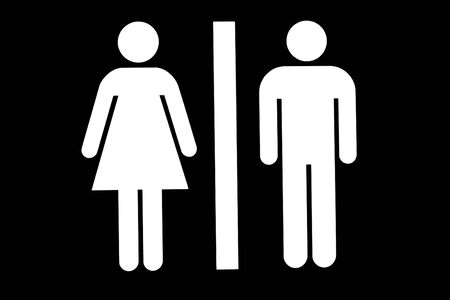 Public toilet or washroom sign Stock Photo