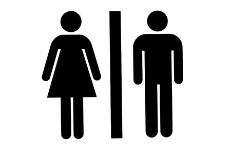 Female/Male Washroom or Toilet Icons Banco de Imagens