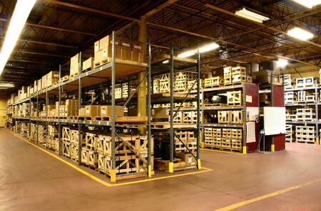 The parts warehouse of a manufacturer Banco de Imagens - 5773255