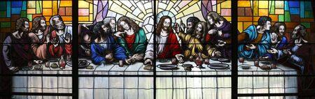 Jesus Christ and the Last Supper 스톡 콘텐츠