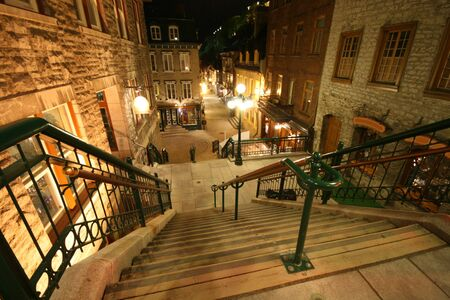 Break-Neck Stairs in UNESCO's Old Quebec City