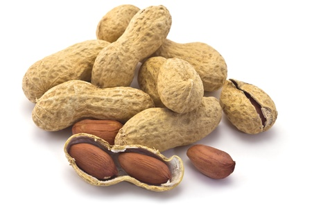 peanuts in the shell on a white background Standard-Bild