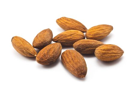 almond nuts on a white background photo