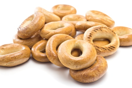 boublik: Bagels on a white background