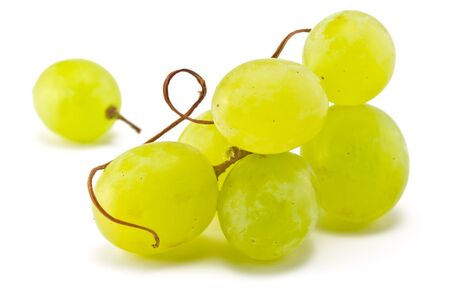 Brush juicy ripe grapes on a white background photo