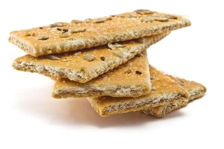 zonnebloem kiemen: cracker met suiker, sesam en zonnebloempitten