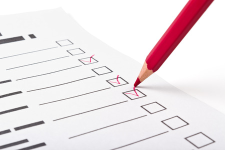 choice of responses to the questionnaire staging pencil checkmark photo