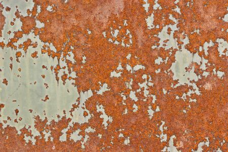 scabrous: Old painted surface with peeling paint and rust