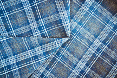 the throughout: Texture of checkered fabric in blue throughout the entire plane of the frame