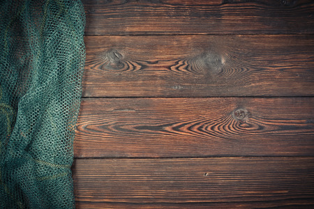 Grid with shallow yachiei on a dark wooden background
