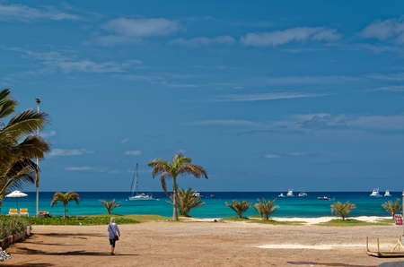 View on the ocean, island Sal, Cape Verde Stock Photo