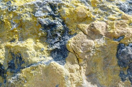 Sulfur texture Stock Photo