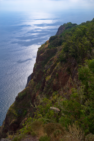 View from on the ocean from Cabo Girao on Portuguese island of Madeira