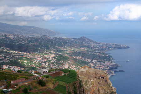 View from Cabo Girao towards Funchal on Portuguese island of Madeira Zdjęcie Seryjne