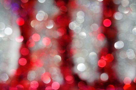 Blurred background in red and white colors