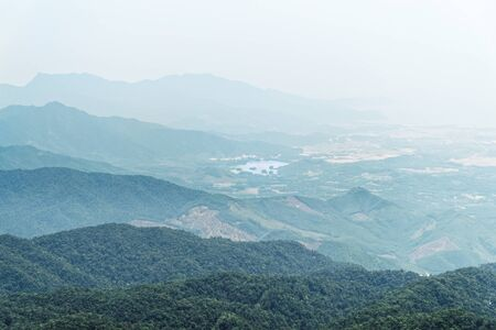Looking in the valley from Ba Na Hills mountain resort