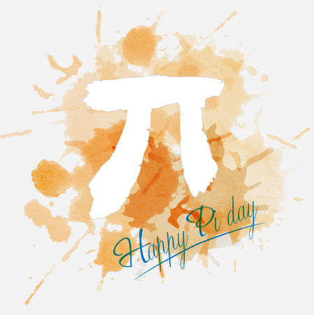 Happy Pi Day. March 14th (3/14). Constant number Pi. Vector illustration. Illustration