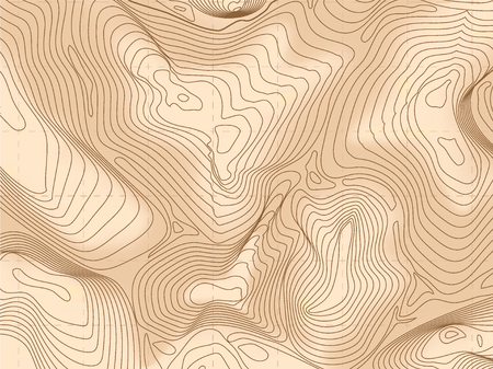 Abstract wireframe background topography contour. Vector illustration