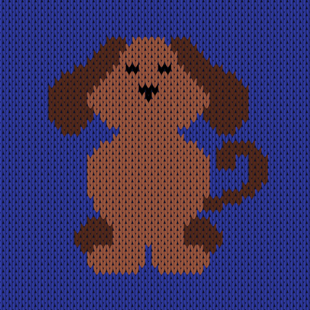 Abstract Knitted Dog Seamless Pattern Knit Texture For Design