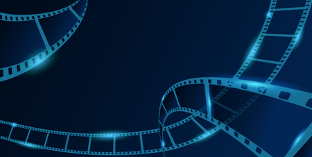 Old cinema background. Vector illustration with film strip. Vectores