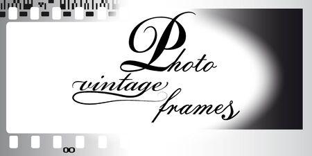 Background of negative filmstrip. Cinema frame icon. Vector illustration.