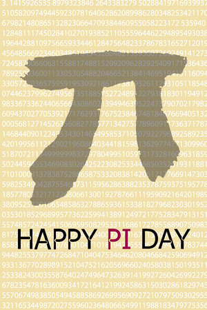 Happy Pi Day. March 14th (314) Constant number Pi Vector illustration Çizim