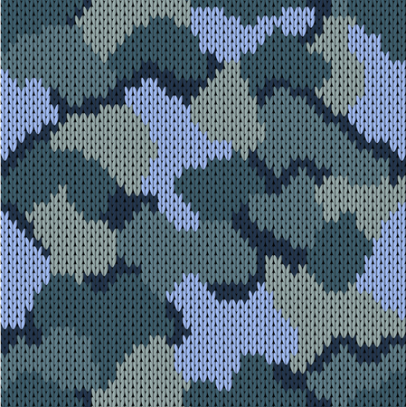 Seamless knitted pattern khaki. Woolen knitted texture. Vector illustration