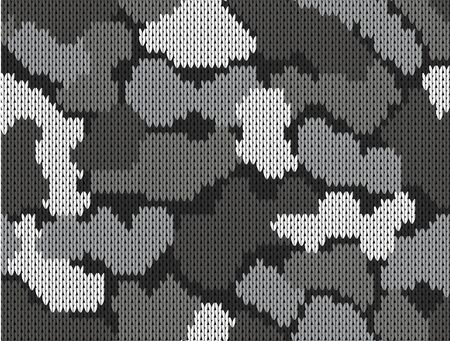 Seamless khaki pattern. Military knitting camouflage. Vector illustration Illustration