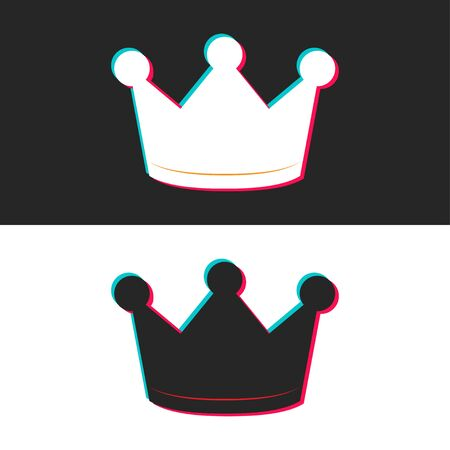 Crown icon. Internet sign crown in modern flat style isolated on background. Multicolored symbol for web site, interface design, logo, app, UI, media application. Social media information symbol. EPS