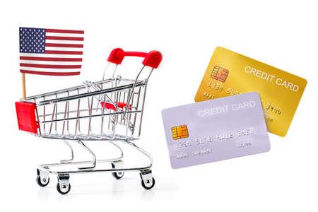 demo credit card on white background 版權商用圖片