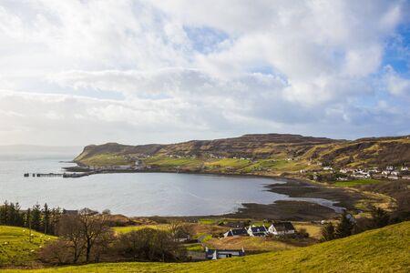 skye: Uig Village, Isle of Skye Stock Photo