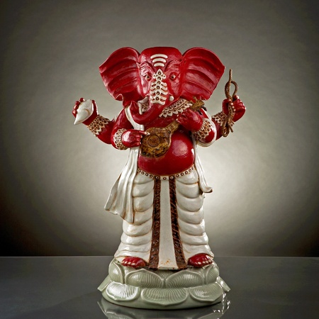 new beginnings: Ganapati: God of wisdom knowledge and new beginnings Stock Photo