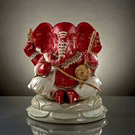 new beginnings: Ganapati 3: God of wisdom knowledge and new beginnings Stock Photo