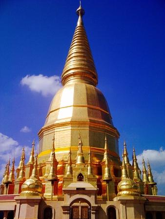 budda: Lanna pagoda Stock Photo