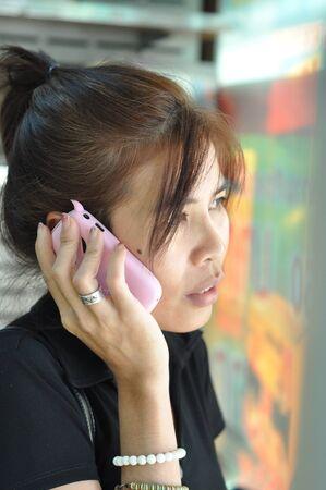 woman call photo