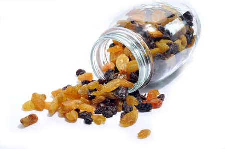 Raisins on the white background Stock Photo - 18692994