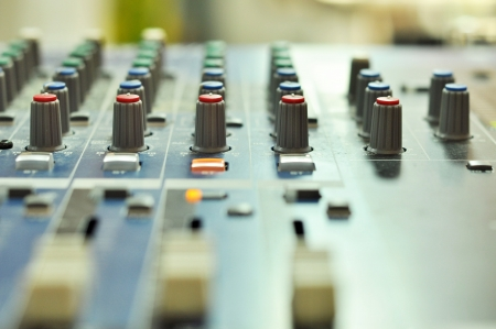 Mixing console photo